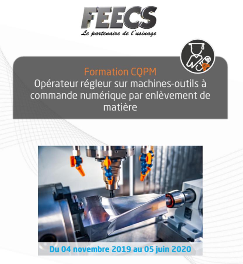Formation opérateur régleur sur machine outils à commande numérique - cqpm